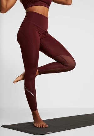 INSERT HIGHWAIST LEGGING - Collants - burgundy