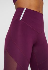 South Beach - INSERT HIGHWAIST - Tights - burgundy - 3