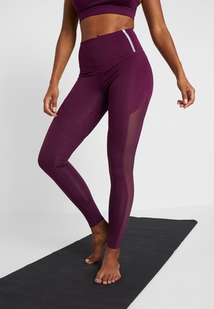 INSERT HIGHWAIST - Legginsy - burgundy