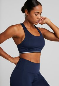 South Beach - CROSS BACK DETAIL BRALET - Sport BH - navy - 0