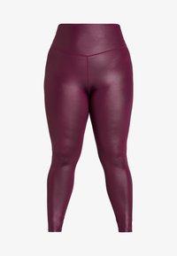 South Beach - CURVE WETLOOK HIGHWAIST LEGGING - Legging - burgundy - 3