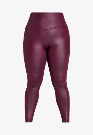 CURVE WETLOOK HIGHWAIST LEGGING - Punčochy - burgundy