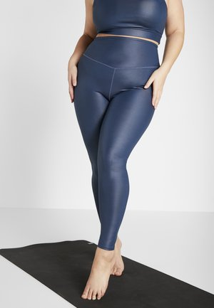 CURVE WETLOOK HIGHWAIST LEGGING - Legging - blue