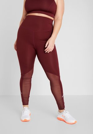 CURVE INSERT HIGHWAIST LEGGING - Tights - burgundy