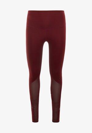 CURVE INSERT HIGHWAIST LEGGING - Trikoot - burgundy