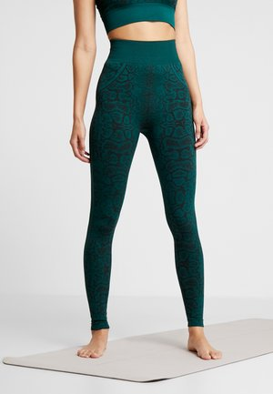 SNAKE SEAMLESS HIGH WAIST LEGGING - Medias - green