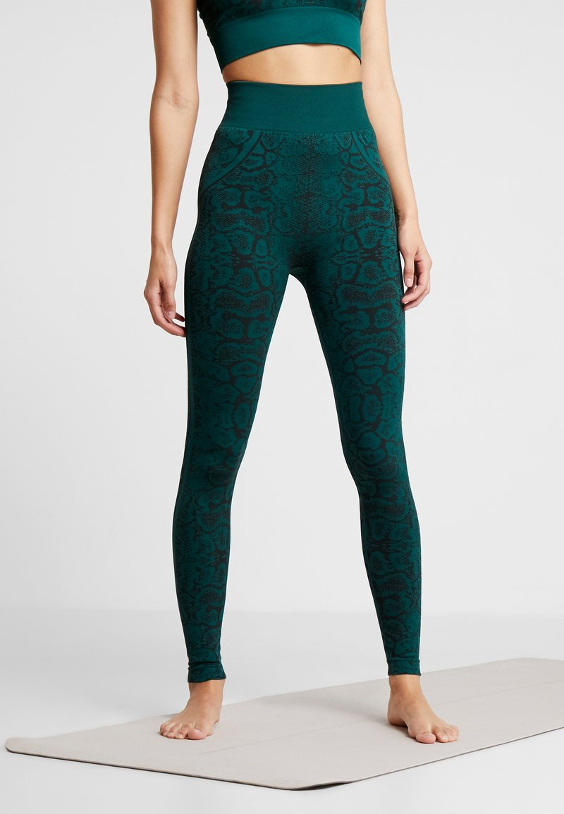 South Beach - SNAKE SEAMLESS HIGH WAIST LEGGING - Collants - green