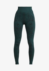 South Beach - SNAKE SEAMLESS HIGH WAIST LEGGING - Collants - green - 4