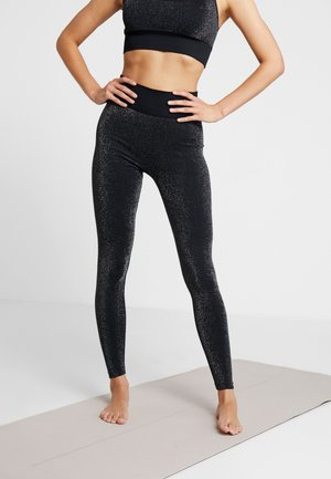 HIGH WAISTED SEAMLESS LEGGING - Medias - silver/black