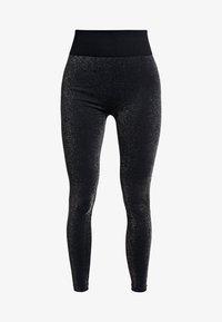 South Beach - HIGH WAISTED SEAMLESS LEGGING - Legging - silver/black - 4