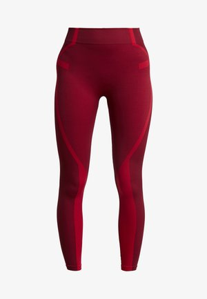 COLOURBLOCK SEAMLESS LEGGING - Collant - red