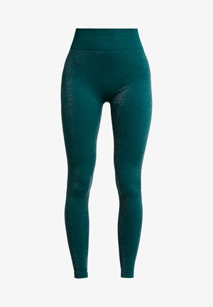 HIGH WAISTED SEAMLESS LEGGING - Punčochy - silve/green