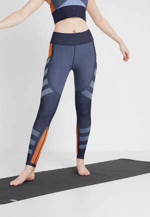COLOURBLOCK SEAMLESS LEGGINGS - Collants - navy/multi