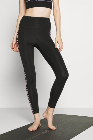SEAMLESS SMOKEY LEGGING CUT SEW - Leggings - black/grey