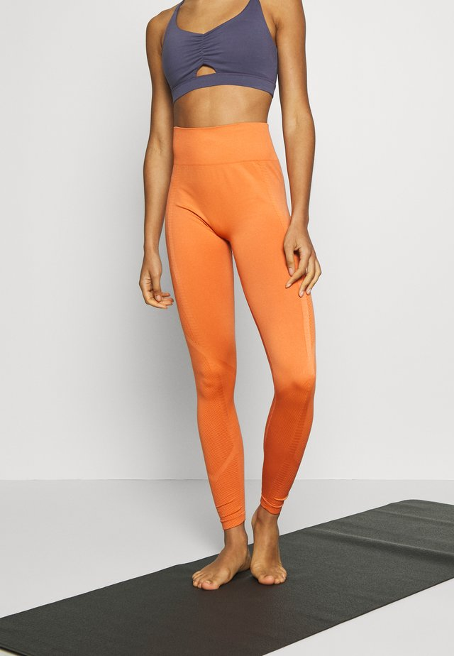 PLAIN LEGGING - Legginsy - orange