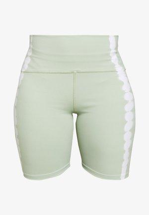 SEAMLESS SMOKEY BICYCLE SHORTCUT SEW - Legging - green/white