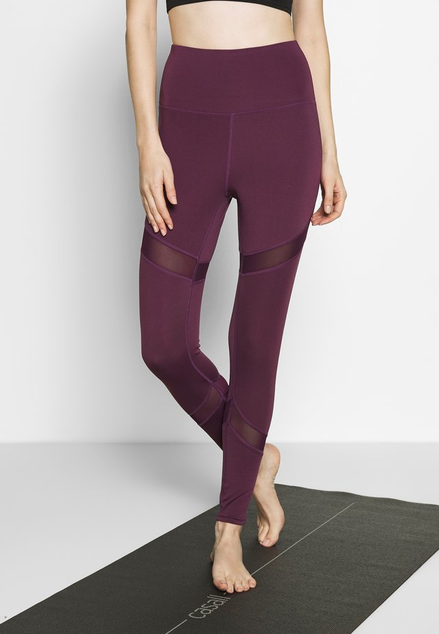 INSERT LEGGING - Tights - plum