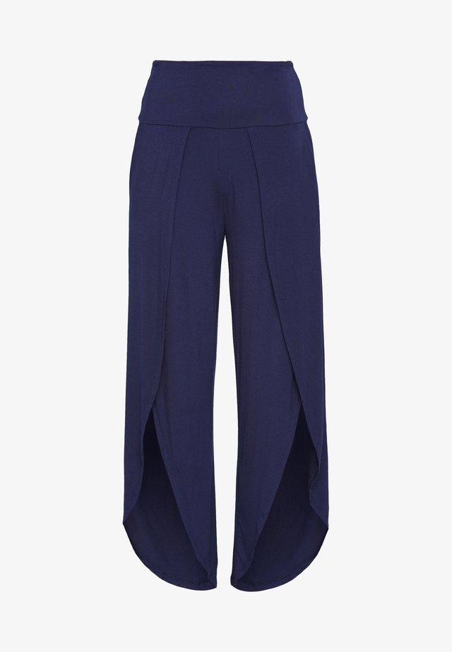 YOGA SPLIT TROUSERS - Pantalon de survêtement - navy