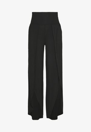 YOGA SPLIT TROUSERS - Joggebukse - black