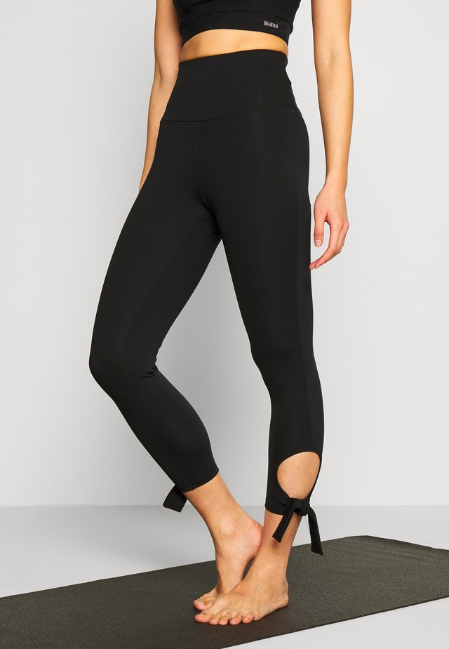 CUT OUT LEGGING - Legging - black