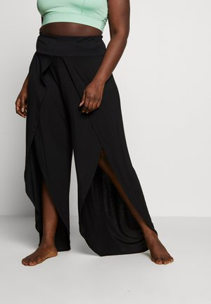 YOGA SPLIT TROUSERS - Pantalones deportivos - black
