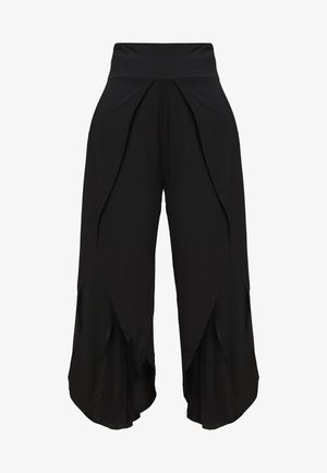 YOGA SPLIT TROUSERS - Trainingsbroek - black