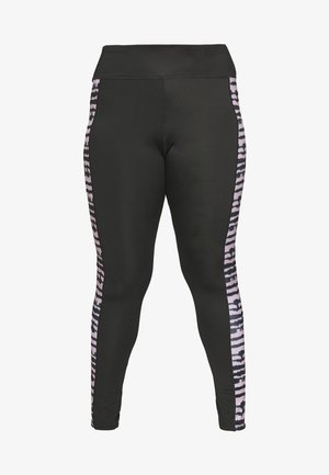SEAMLESS SMOKEY LEGGING CUT SEW - Medias - black/grey