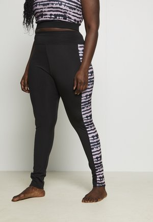 SEAMLESS SMOKEY LEGGING CUT SEW - Punčochy - black/grey