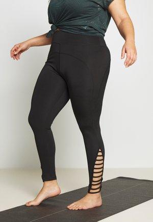 STRAP LEGGING - Tights - black