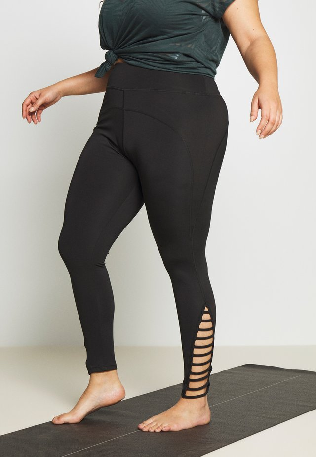 STRAP LEGGING - Leggings - black