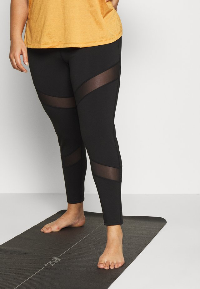 INSERT LEGGING - Tights - black