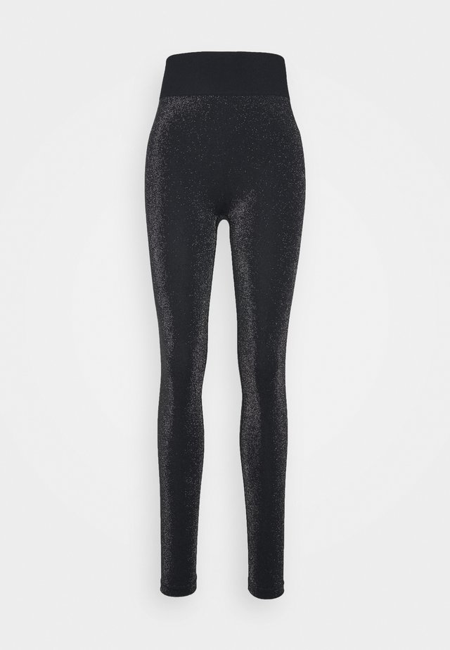 HIGH WAISTED SEAMLESS LEGGING - Leggings - black