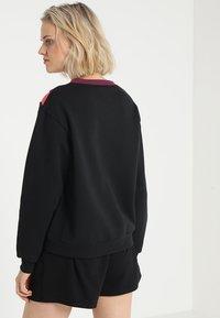 South Beach - COLOURBLOCK ASYMMETRIC - Sweater - black - 2