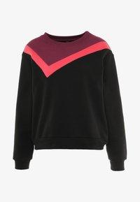 South Beach - COLOURBLOCK ASYMMETRIC - Sweater - black - 4