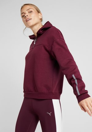 HOODIE REFLECTIVE DETAIL - Jersey con capucha - burgundy