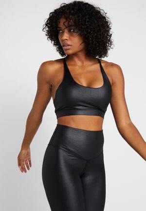 WETLOOK STRAPPY BACK BRALET - Sport BH - black