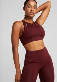 South Beach - MUSCLE BACK BRALET - Urheiluliivit - burgundy - 0