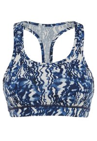 South Beach - MARBLE FITNESS MARBLE CROP - Sport BH - navy - 0