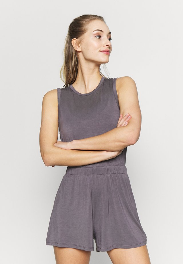 YOGA ROMPER - Turnpak - smoky grey