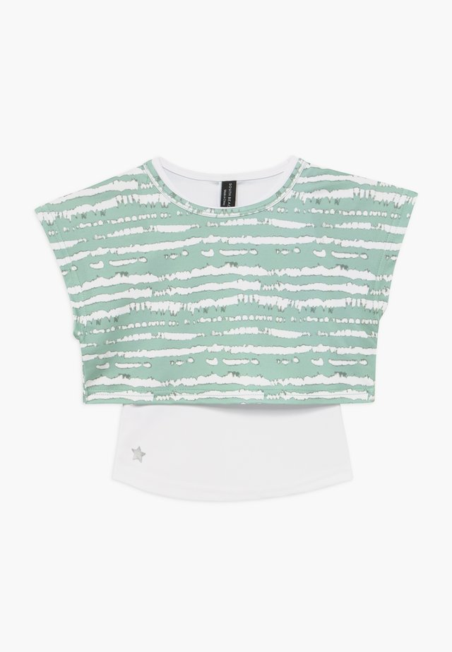 GIRLS PRINTED TEE - T-shirt print - sage green