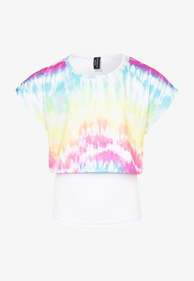 GIRLS PRINTED TEE - T-shirt imprimé - rainbow