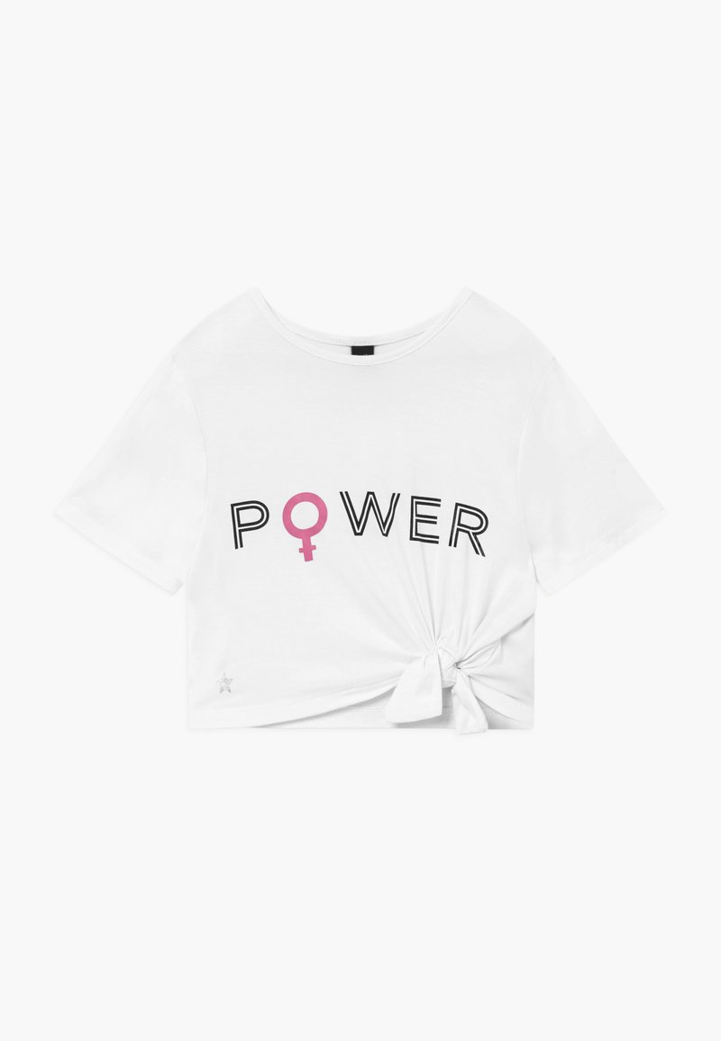 South Beach - GIRLS POWER KNOT  - T-shirt z nadrukiem - white
