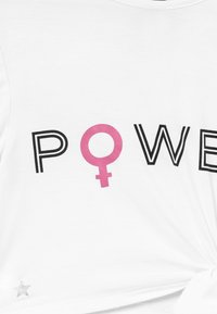 South Beach - GIRLS POWER KNOT  - T-shirt z nadrukiem - white - 3