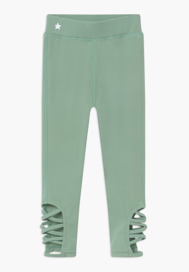 GIRLS CUT OUT LEGGINGS - Punčochy - sage green