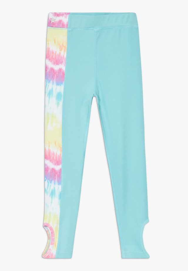 GIRLS KNOT  - Leggings - rainbow/light blue