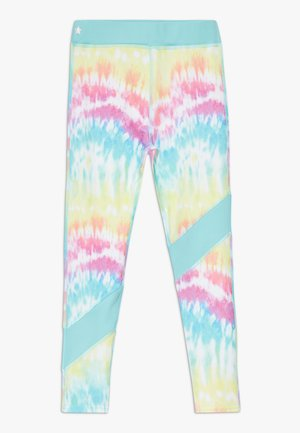 GIRLS COLOR BLOCK  - Leggings - rainbow/light blue