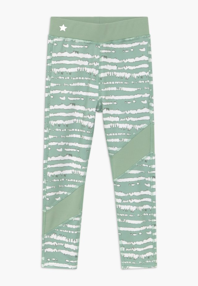 GIRLS COLOR BLOCK - Leggings - sage green