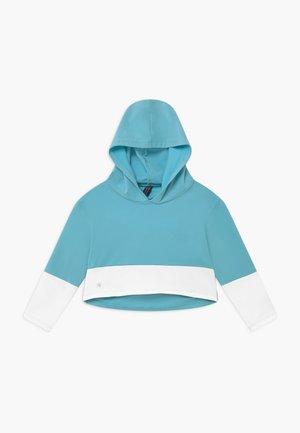 GIRLS COLOR BLOCK HOODIE - Felpa con cappuccio - light blue/white