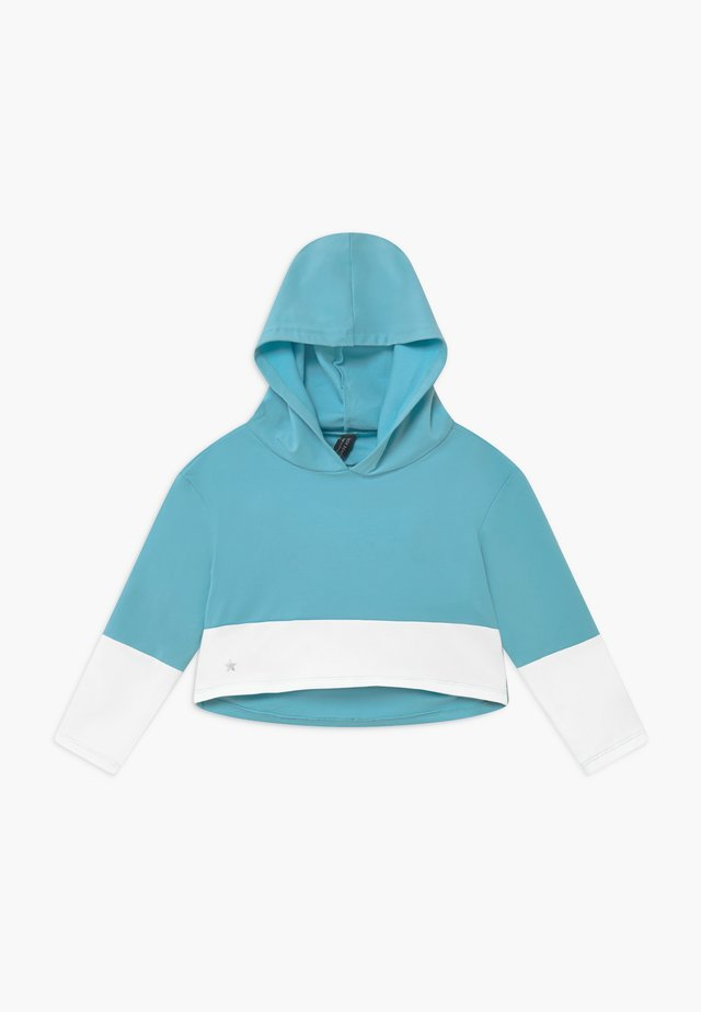 GIRLS COLOR BLOCK HOODIE - Hoodie - light blue/white