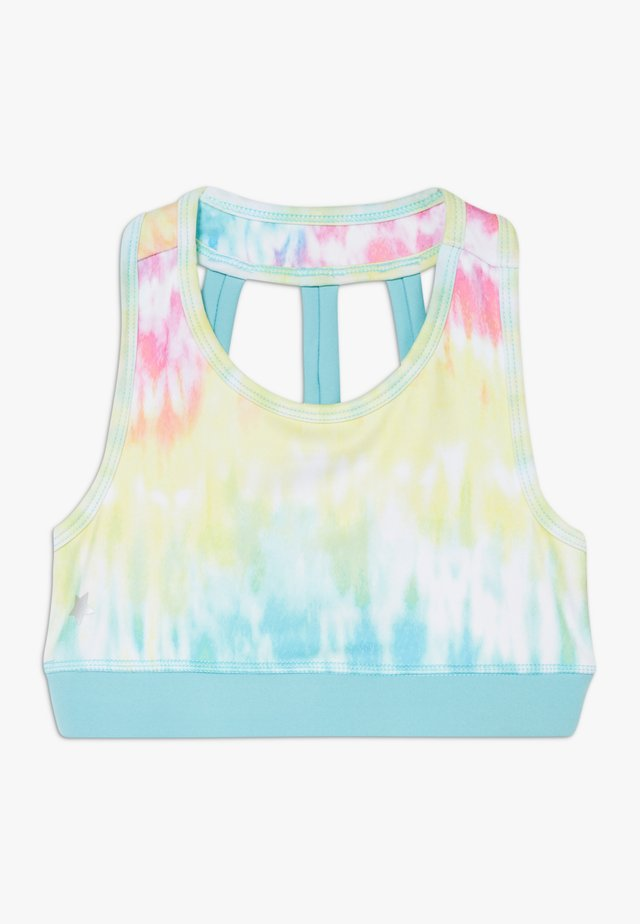 GIRLS SPORTS BRA - Sport BH - rainbow/light blue
